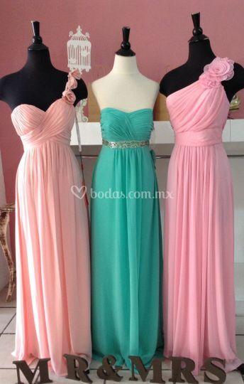 Blush, menta y rosa