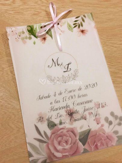 Invitación Organic Flores