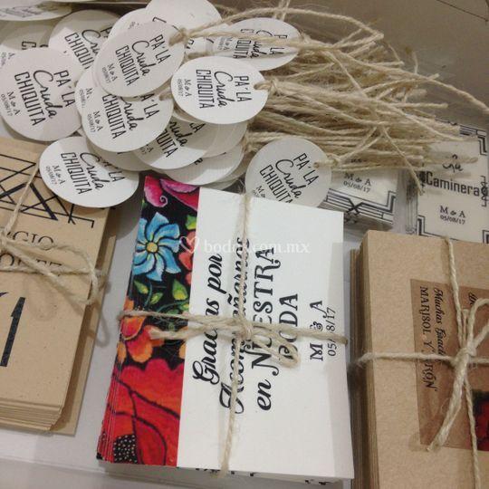 Kit de tarjetas para souvenirs