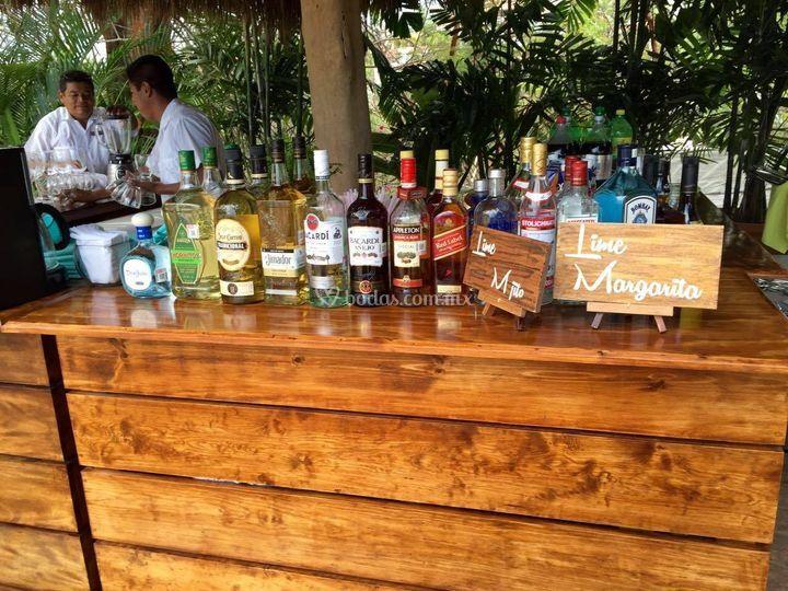 Barra de bebidas