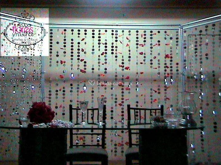 Decoración boda cortinas de ro