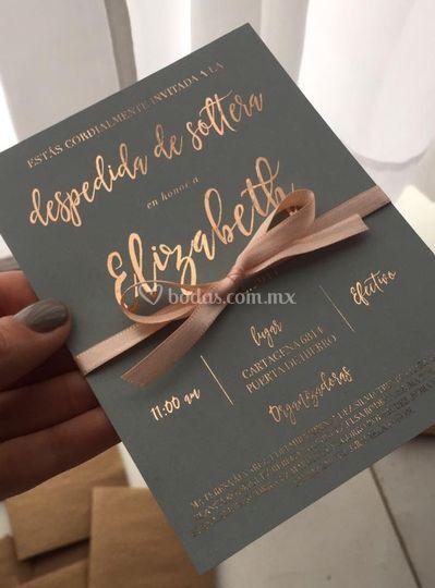 Invitaciones con foil