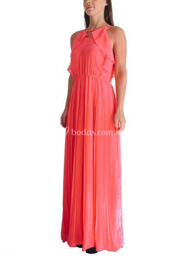 Vestido rosa fuccia talla M