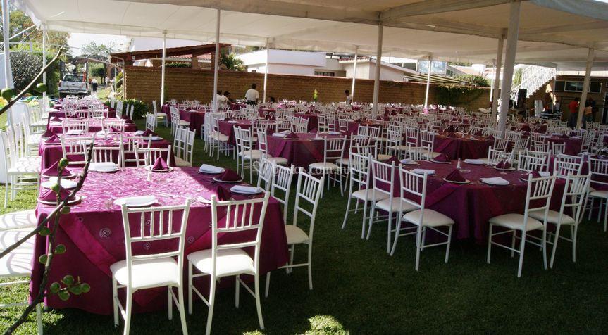 Hermoso jardín para tu evento