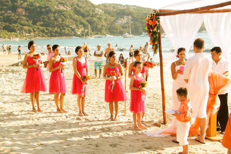 En playa tu boda