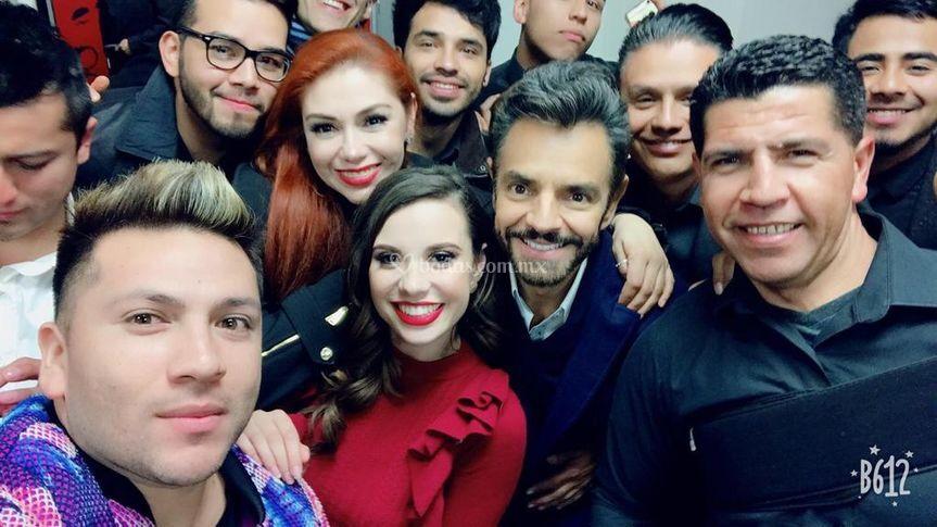 Melody con Eugenio Derbez