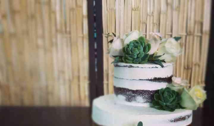 Pastel boda suculentas