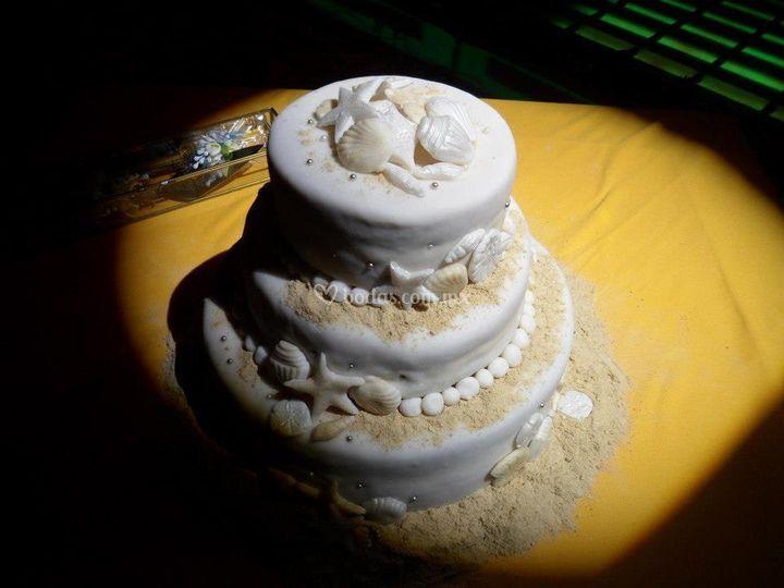 Pastel con temática de playa