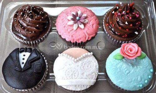 Cupcakes temático para bodas