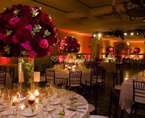 Arreglos florales para las mesas