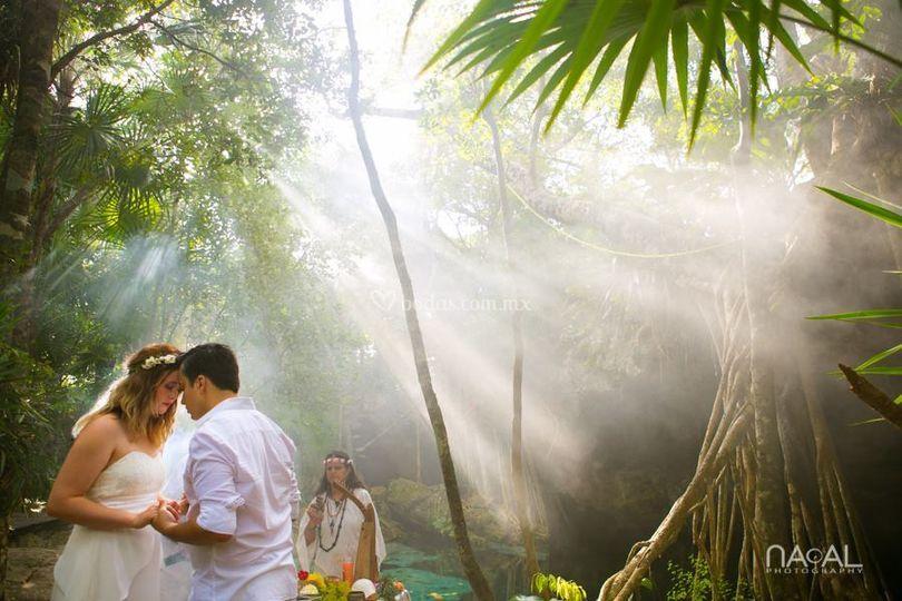 Boda mística en cenote