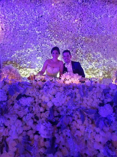 Pared 10,000 rosas