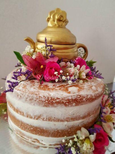 Naked cake tema fiesta