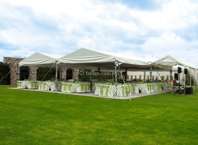 Jard n hacienda zerezotla for Imagenes de jardines para fiestas