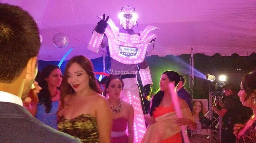 Robot de led blanco