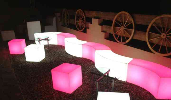 Sala lounge iluminada
