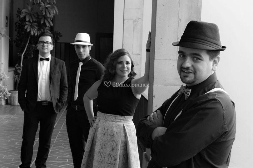 Diego, Lalo, Paola y Luis