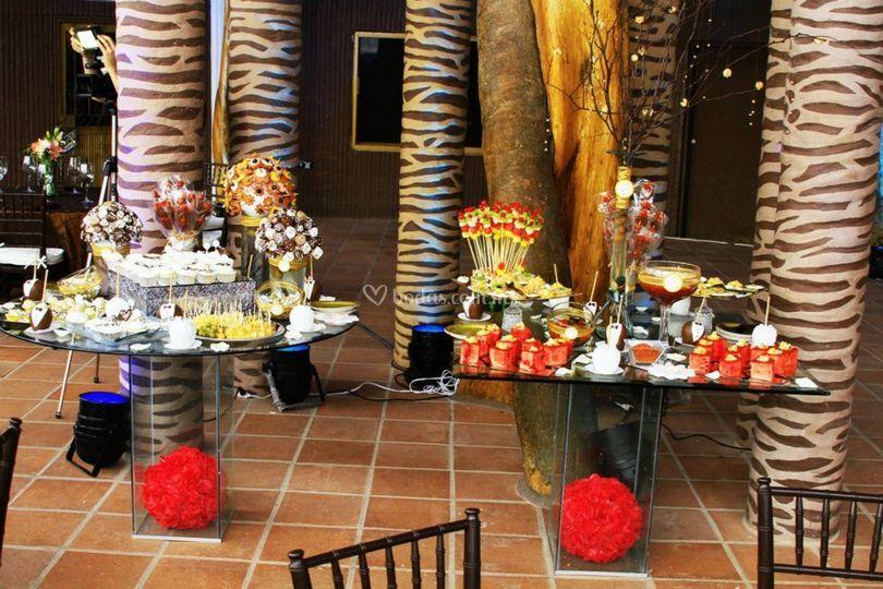Mesa mixta para boda