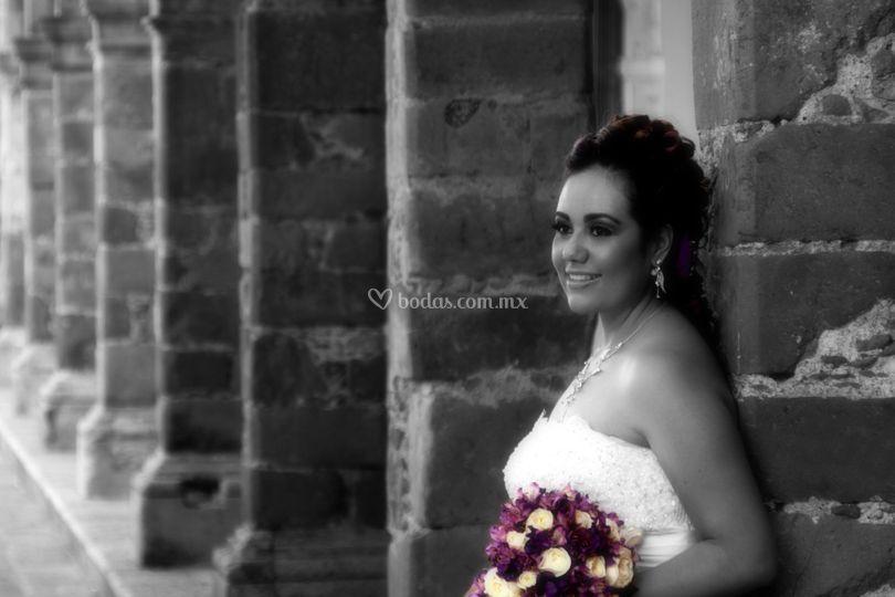 La novia y su ramo
