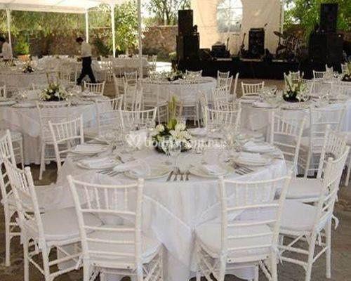 Sillas y mesas gdl - Mesas y sillas blancas ...