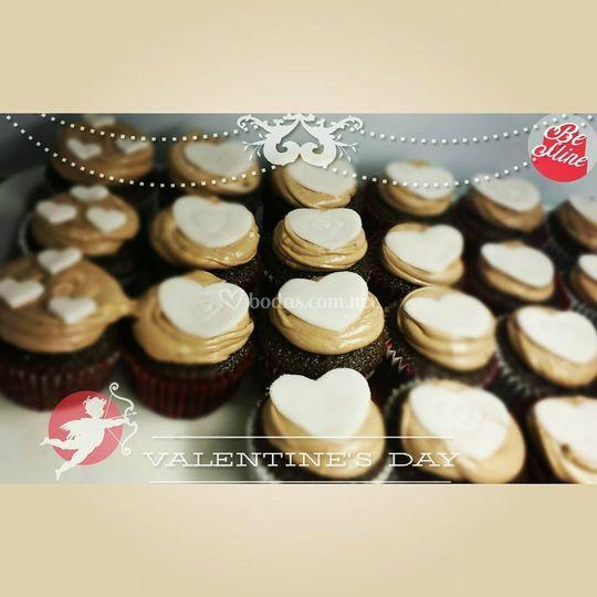 Cup cakes de corazón