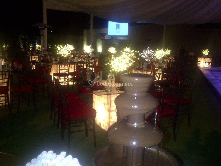 Una boda por la noche