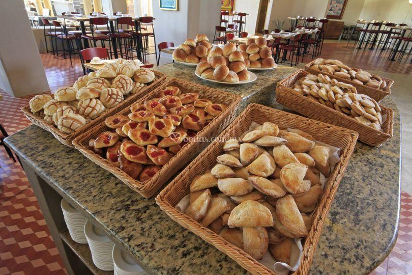 Mesa de pan dulce