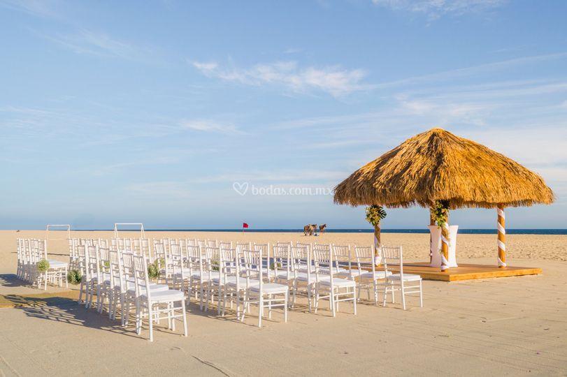 Romantica ceremonia de bodas