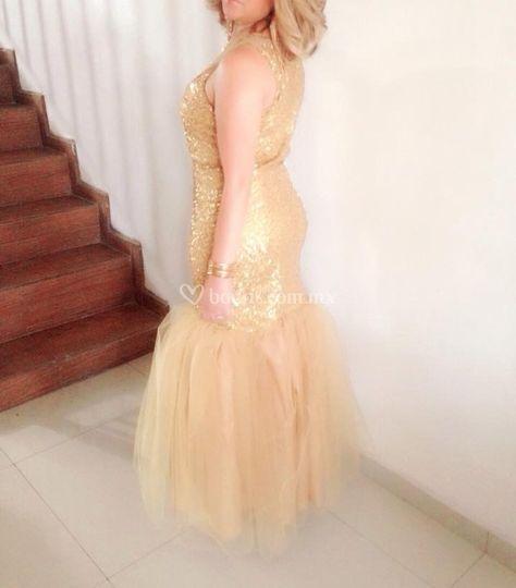 Marnell long sparkle golden