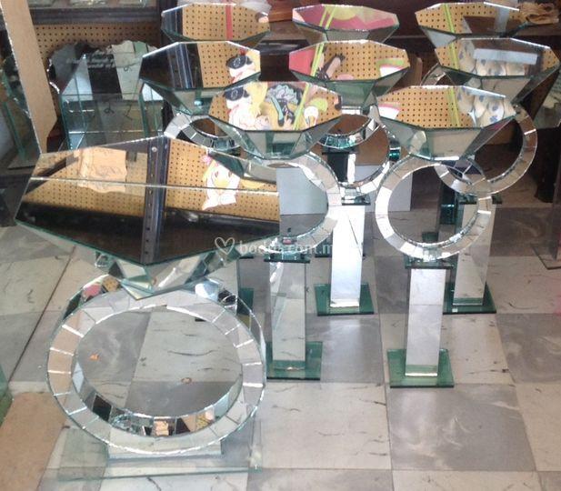 Buzón y centros de mesa