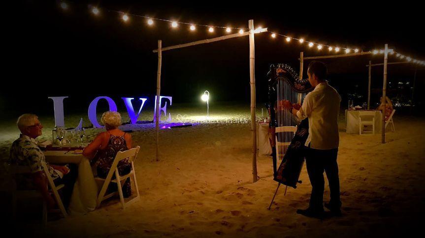 Evento privado en playa