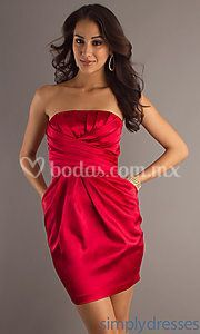 Vestido  rojo estraple