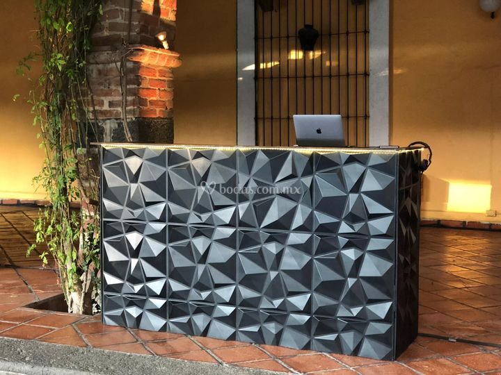3D Black DJ Booth