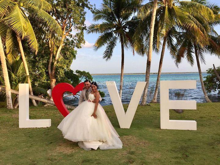 Letrero boda Mishell