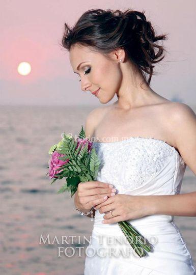 La hermosa novia