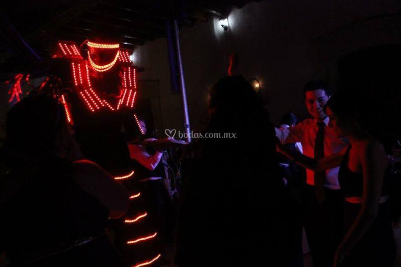 Robot de luces Led