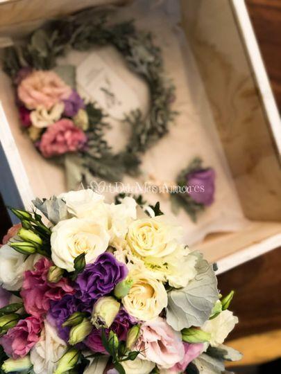 Bride bouquet & boutonnier