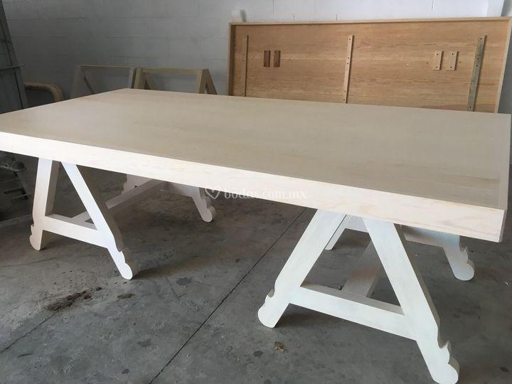 Mesa para 12 personas vintage