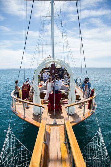 El barco de la ceramonia
