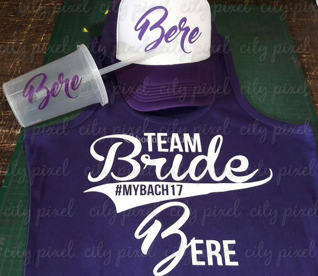 Team bride playera gorra vaso