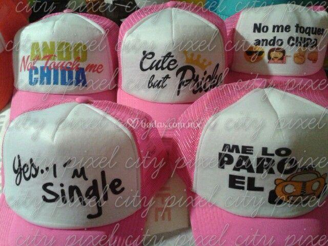 Gorras de malla rosa