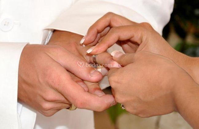 Colocando los anillos