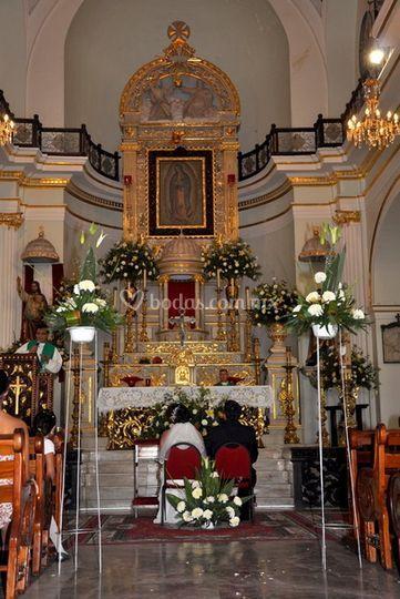 Fotos en la iglesia