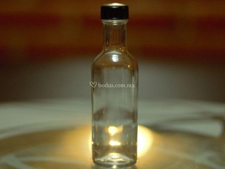Mini botella cristal