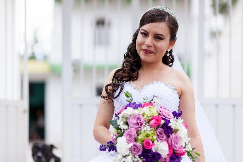 Una novia hermosa