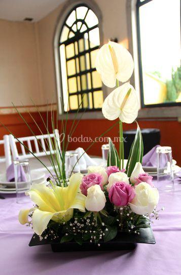 Arreglo Floral Boda De Salón Valle Del Sur Foto 65
