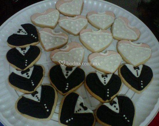 Galletas para boda de Pastelería Montero's