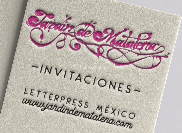 Invitaciones Letterpress