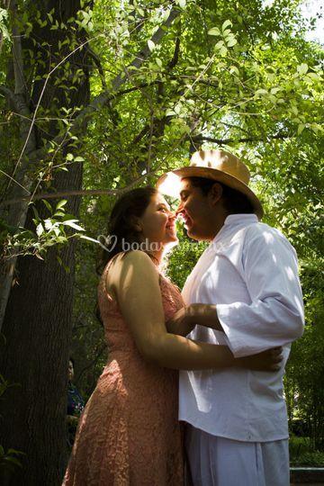 El beso en una sesion previa