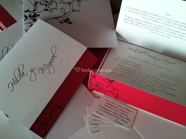 Invitaci�n boda de InvitArte